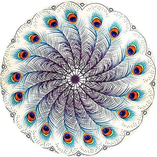 (Indian Mandala Table Festival Cloth Home Dector Hawaii Sunproof Round Beach Throw Tapestry Hippy Boho Gypsy Table Cloth 60)