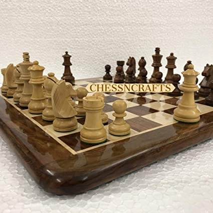 CHESSNCRAFTS 16 X 16 Collectible Wooden Chess Board Game Set- Wooden Tournament Chess- Premium Quality