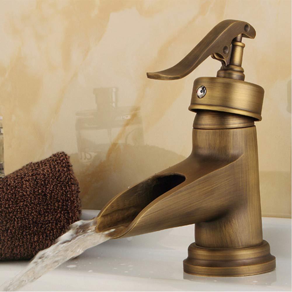 LLLYZZ Rubinetti per lavabo Rubinetto da Bagno in Ottone Anticato Rubinetto per lavabo Rubinetto monocomando Lavamani Lavamani Rubinetti WC