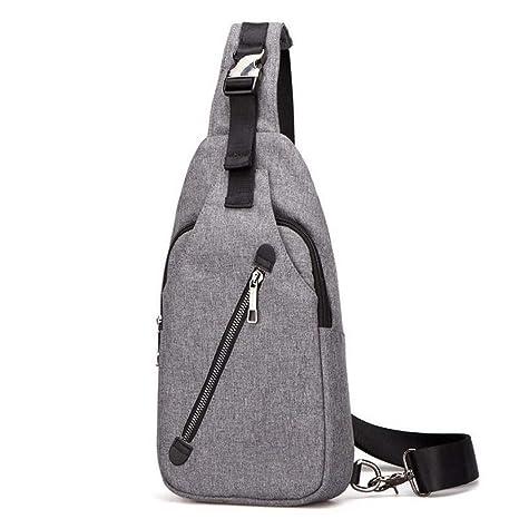 Amazon.com: Bolsa de hombro para hombre, bolsa de nailon ...