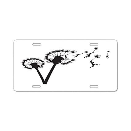 YEX Abstract License Plate The Mythical Saber Tooth High Gloss Aluminum Novelty Car Licence Plate Covers Auto Tag Holder 12 x 6 License Plate Covers & Frames