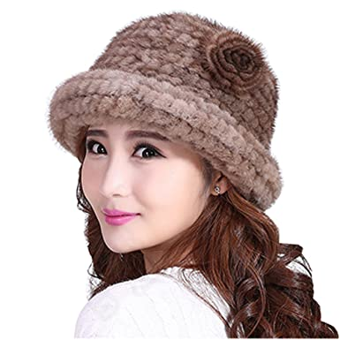 89b2aaf92a613 Mink Fur Hat Lady's Cap Winter Warm Hat Hand Knitted Women Hat Mink ...