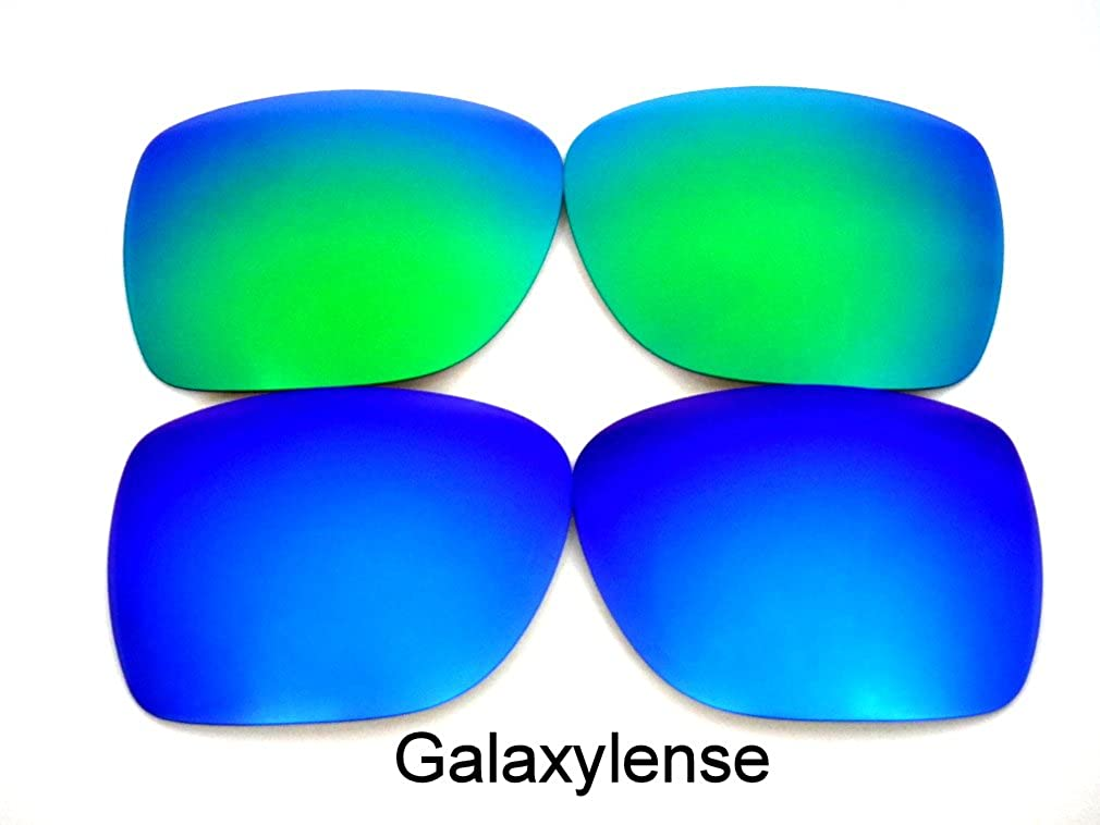 2f94b2d0d9 Amazon.com  Galaxy Replacement Lenses For Oakley Mainlink Sunglasses  Polarized Blue Green  Clothing