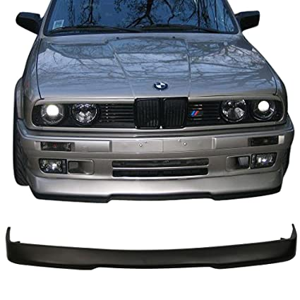 Front Bumper Lip Fits 1984 1992 Bmw E30 3 Series Black Pu Front Lip Finisher Under Chin Spoiler Add On By Ikon Motorsports 1985 1986 1987 1988