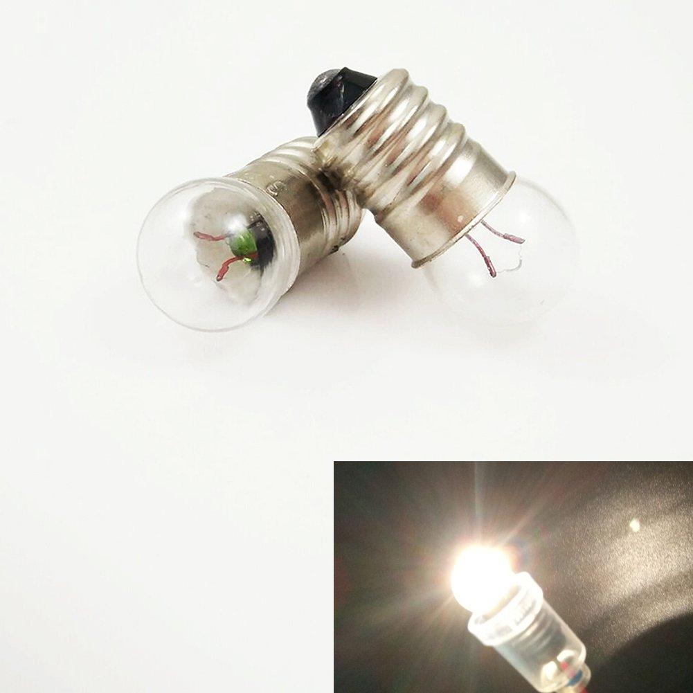 20x E10 6.2V/0.5A Miniature Screw Base Light Bulb Lamp Flashlight Torch Work Light DIY Experiment (6.2V 0.5A)