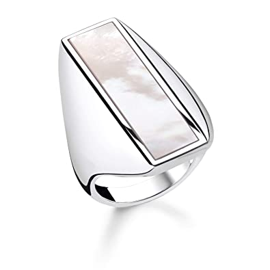 5c150b105e59 Image Unavailable. Image not available for. Colour  Thomas Sabo Women Ring  Mother-of-Pearl 925 Sterling Silver ...