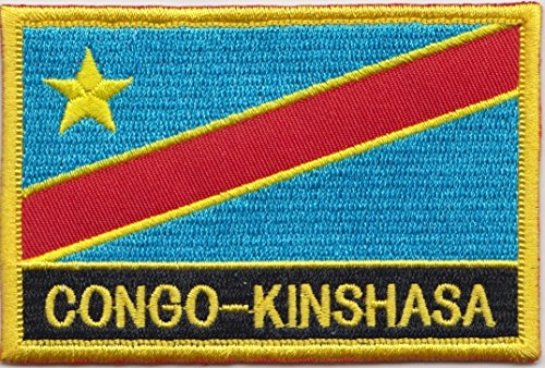 Congo-Kinshasa Country Flag Embroidered Blazer Badge Patch ()