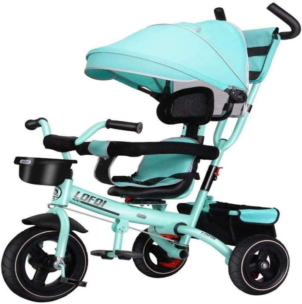 AJH Infantil Trikes Triciclo Triciclo con Push asa de Empuje de Padres Triciclo para niños de 1-5 años de niño para Bicicleta triciclos para niños pequeños Trike cochecitos para el bebé Productos
