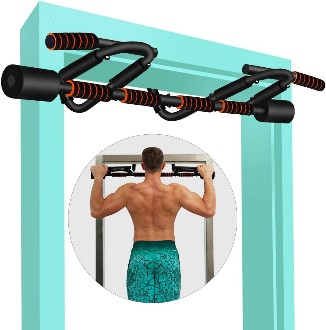 KLL Pull up Bar for Doorway, Multifunctional Strength Training Pull-up Bars for Home Gym Exercise, Doorway Pullup Chin up Bar No Screws with Upgraded Thickened Steel & 440LBS(180-days Free Return) : Sports & Outdoors