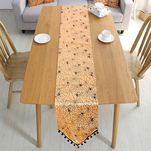 Spiderweb Camino de mesa, diseño de Halloween, decoración de ...