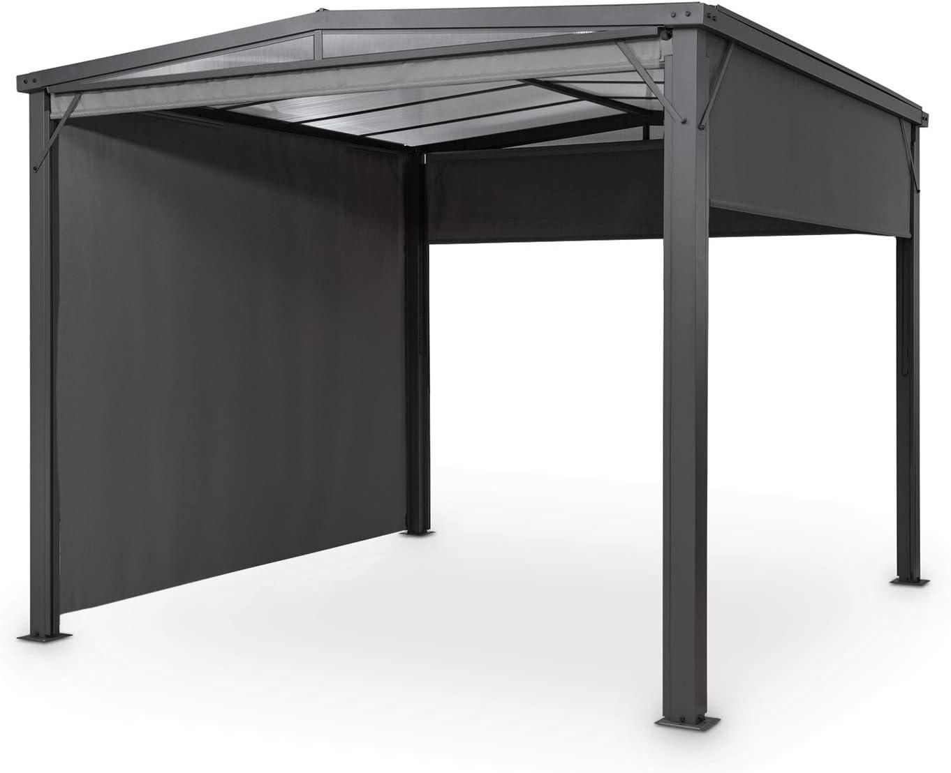 Blumfeldt Pantheon Cortina Solid Sky Pergola – Toldo, 300 x 300 cm, protección contra la lluvia y el sol, privacidad y protección contra el viento: 4 ...