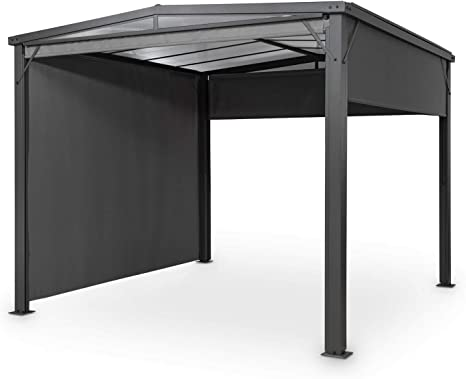 blumfeldt Pantheon Cortina Solid Sky Pergola – pérgola, colgadizo para Exteriores, 300 x 300 cm, Protege del Sol y de la Lluvia, Protege del Viento, 4 ...