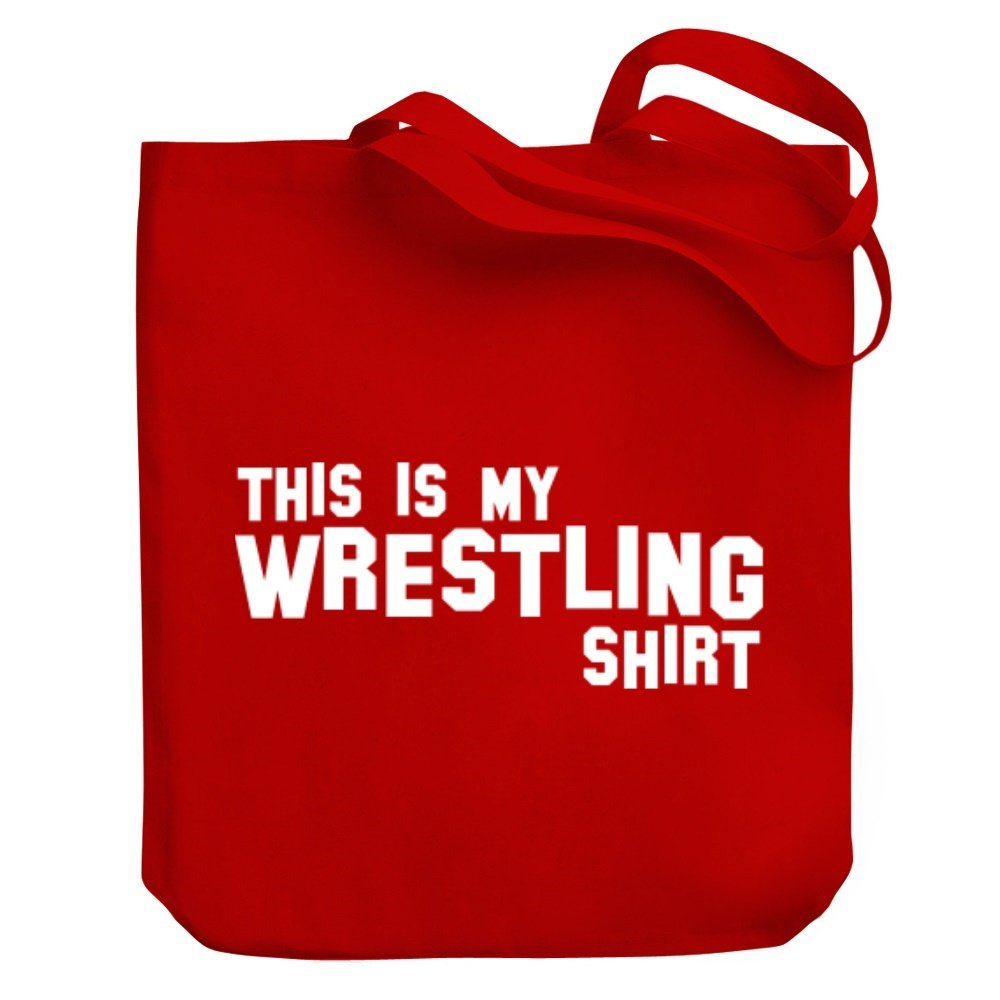 Teeburon THIS IS MY Wrestling SHIRT Canvas Tote Bag