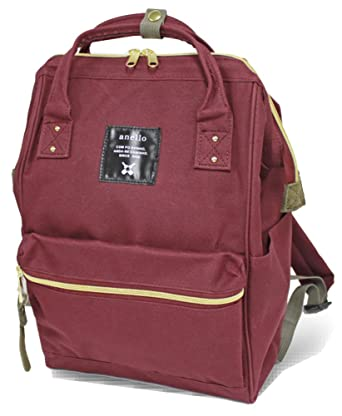 ff860a259c Image Unavailable. Image not available for. Color  Anello  AT-B0197B small  backpack with side pockets (Wine)