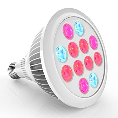 Erligpowht LED Grow Lights, 24W Plant Lights E27 Growing Bulbs 3  Wavelengths Tailored LED Grow