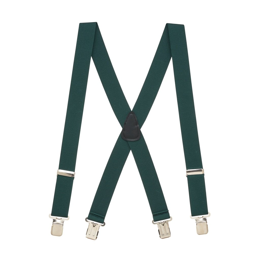 Suspender Store Mens 1.5 Inch Wide Construction Clip Suspenders - HUNTER
