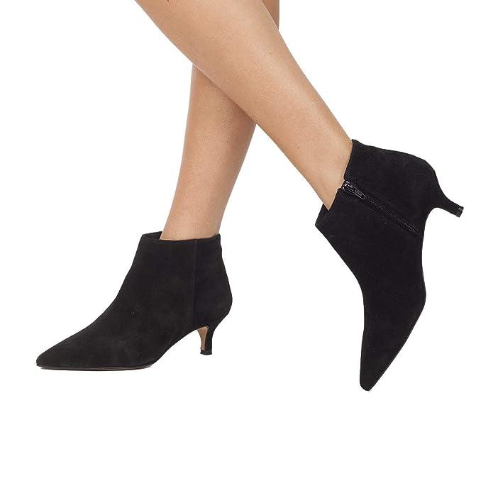 Outfit - Botín Mujer con tacón Chupete Negro: Amazon.es: Zapatos y complementos
