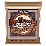 Ernie Ball Earthwood Extra Light Phosphor Bronze Acoustic String Set, .010 - .050
