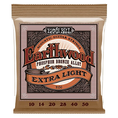Ernie Ball Earthwood Extra Light Phosphor Bronze Acoustic String Set, .010 - .050 ()