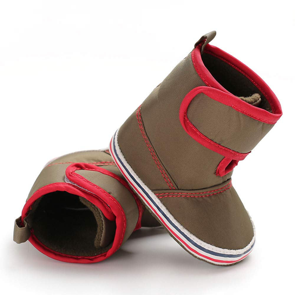 LandFox Big Kid,Infant Newborn Baby Boys Girls Cashmere Winter Boots Prewalker Warm Shoes,