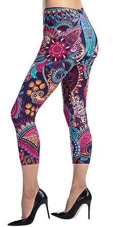 4f07e3a26 Ndoobiy Printed Leggings Basic Patterned Leggings Workout Leggings Women  Girls Spandex Leggings C2(MDL zi