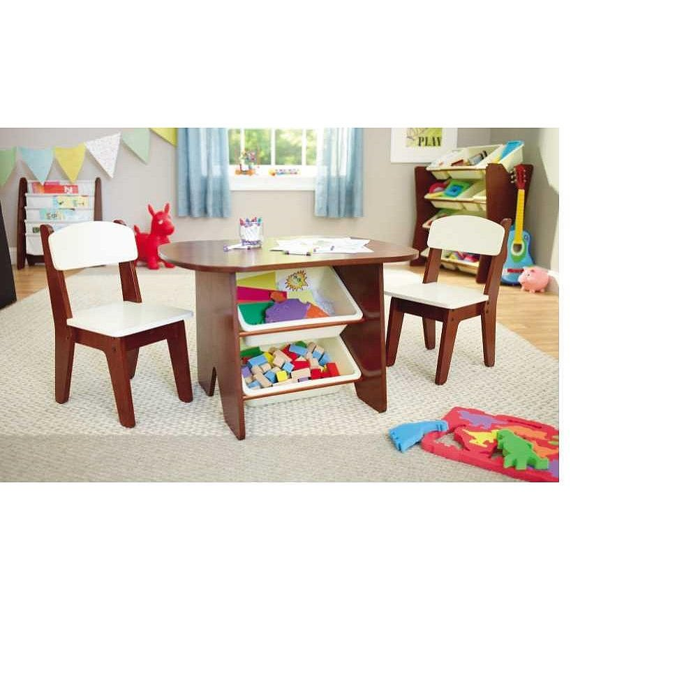 Amazon.com Imaginarium Table and 2 Chair Set - Espresso Playroom Childrenu0027s Furniture Nursery Decor Kitchen u0026 Dining  sc 1 st  Amazon.com : wooden table and 2 chairs set - pezcame.com