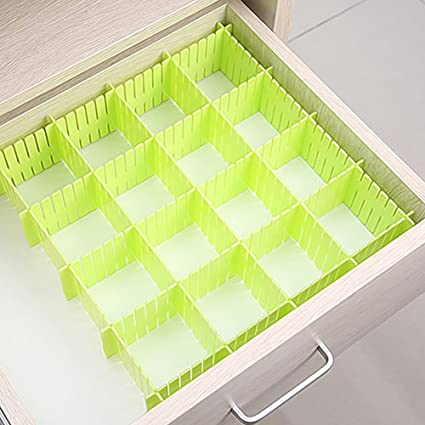 Luxury Way 8 PCS DIY Adjustable Drawer Partition Dresser Divider Closet  Shelf Divider Stationary Makeup Socks