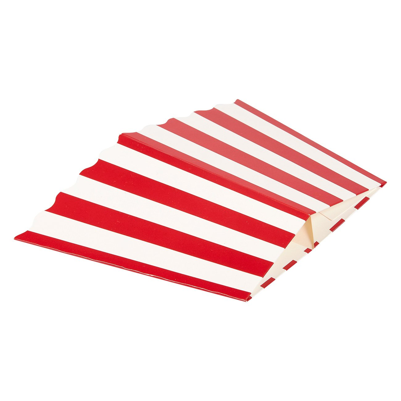 Set of 100 Popcorn Favor Boxes - Paper Popcorn Containers, Popcorn Party Supplies for Movie Nights, Movie-Themed Parties, Carnival Parties, Pirate Party, Red and White - 3.7 x 7.8 x 3.7 Inches by Blue Panda (Image #5)