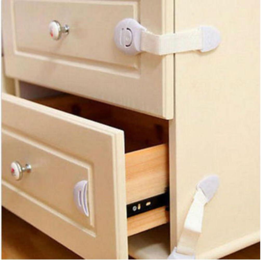 10X Child Baby Cupboard Cabinet Finger Safety Locks Proofing Door Drawer Fridge