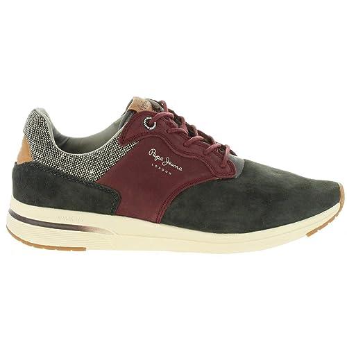 Zapatillas Hombre Pepe Jeans JAYKER Nub.Negro-Burdeos PMS30480: Amazon.es: Zapatos y complementos