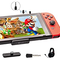 GuliKit Bluetooth Adapter Route air Pro,Support in-Game Voice Chat, Low Latency Compatible with Nintendo Switch & Switch…