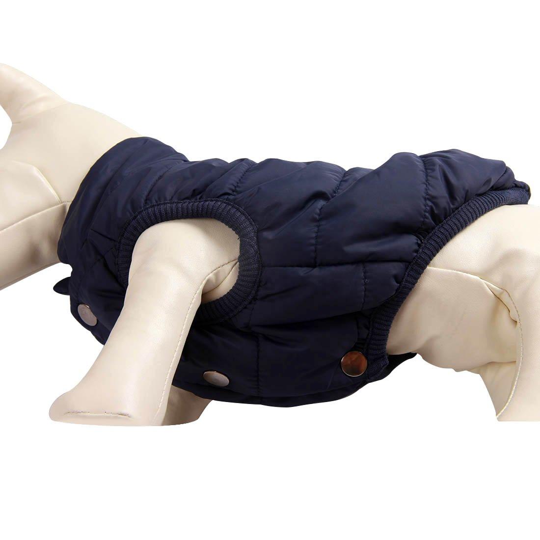 JoyDaog 2-lagige mit Fleece gef/ütterte Hundejacke extraweiche rot sehr warm f/ür Winter und kaltes Wetter winddichte Hundeweste
