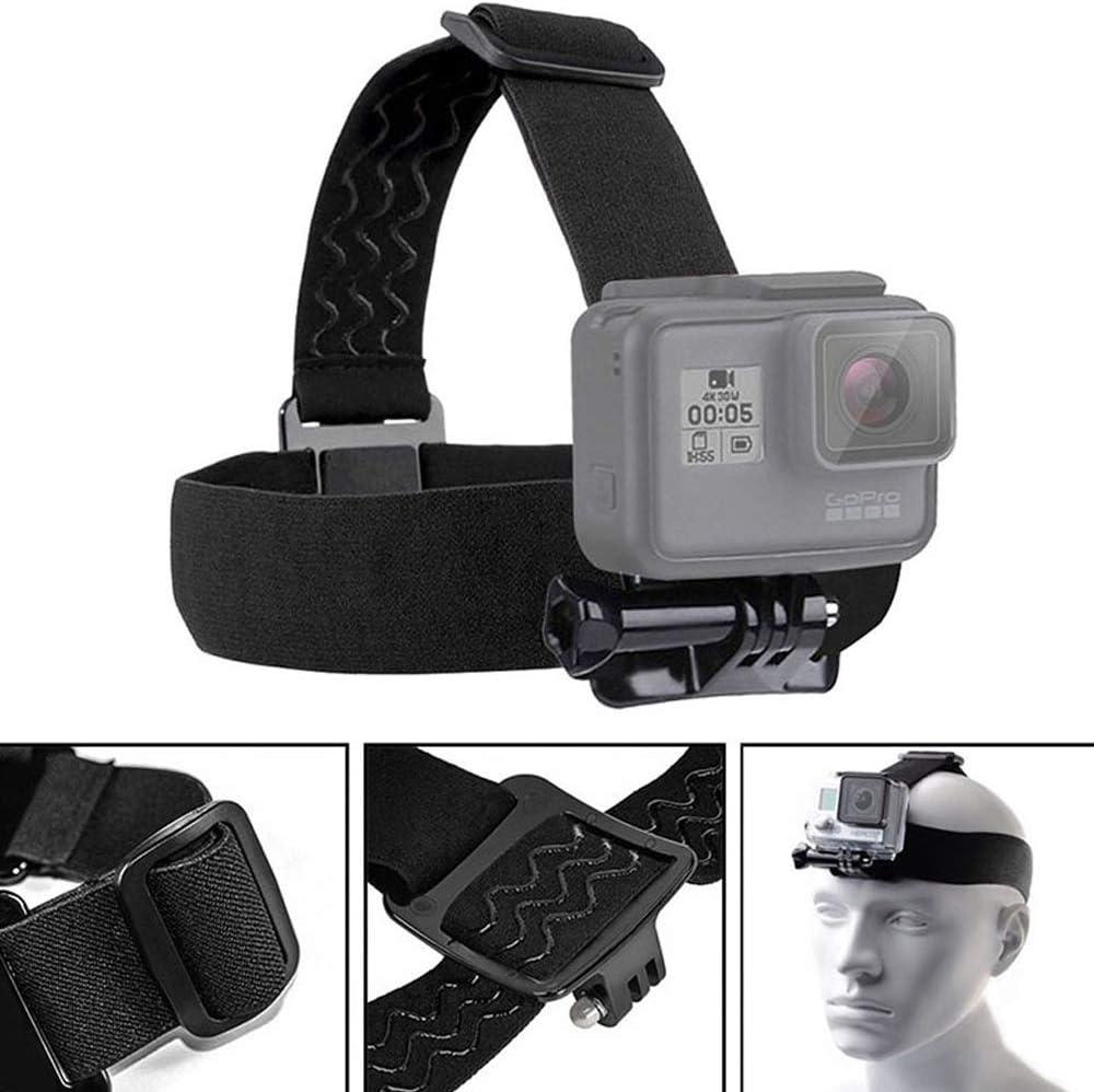عصابة رأس مثبتة على الرأس حزام التثبيت حزام الرأس جبل جوبرو حزام الرأس GOpro حزام الرأس حامل الخوذة متوافق مع جميع موديلات كاميرات هيرو 3 هيرو 2 HD من كاميرات GOPRO