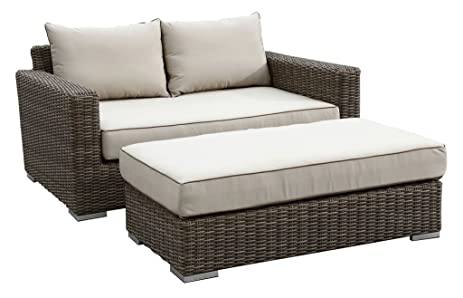 sunset west coronado double chaise with frame and