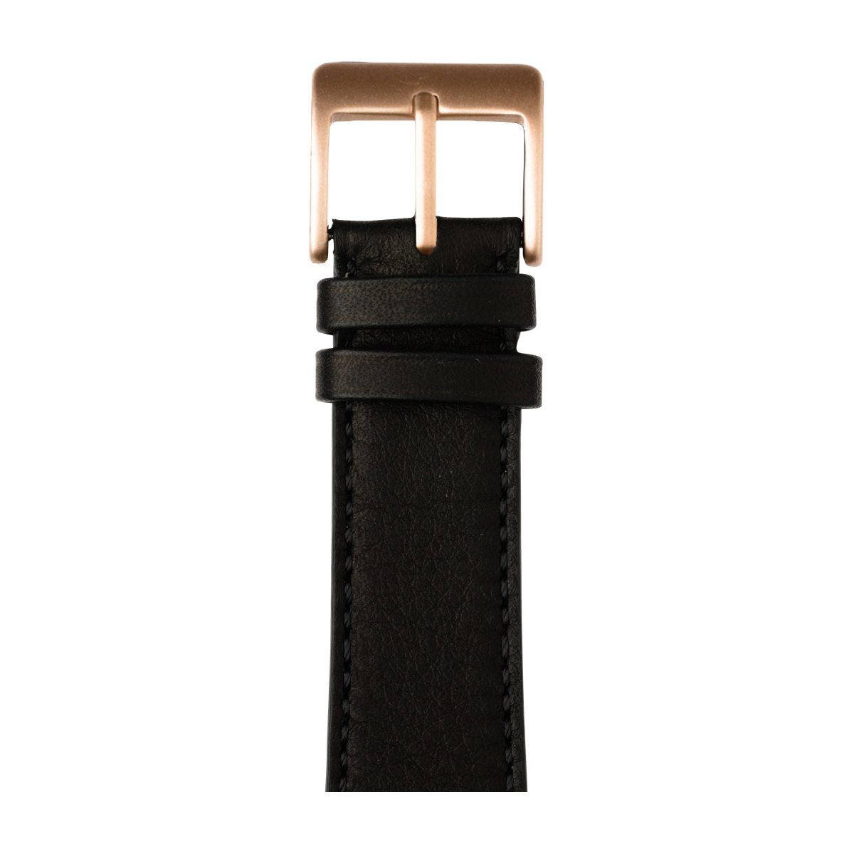 Roobaya | Premium Sauvage Leather Apple Watch Band in Black | Includes Adapters matching the Color of the Apple Watch, Case Color:Rose Gold Aluminum, Size:38 mm