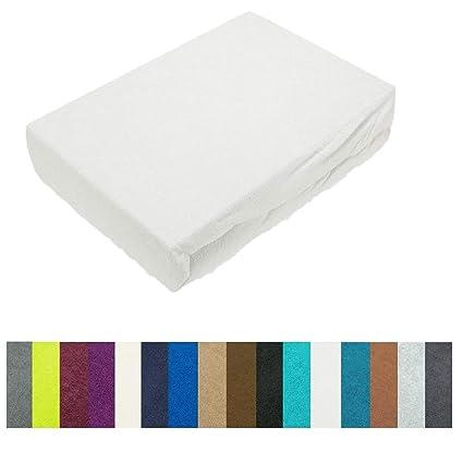 Lenzuola 100 X 200.Lenzuolo Con Angoli Elasticizzati In Diverse Misure E Colori Spugna Bianco 90 100 X 200 Cm