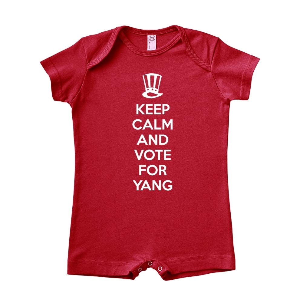 Mashed Clothing Keep Calm /& Vote for Yang Presidential Election 2020 Baby Romper