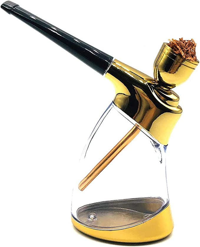 Amazon.com: BOOSEY Premium Hand Hookah Mini Shisha | Authentic Mini Hookah Water Pipe Suitable for one-Handed Holding Multi-Purpose use, Gold Color (Type-1): Health & Personal Care