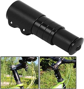 CLISPEED Elevador de vástago de Bicicleta Extensor de vástago de Bicicleta Adaptador de Elevador de Manillar de Bicicleta para Bicicleta de montaña Bicicleta de Carretera MTB BMX 12 cm (Negro): Amazon.es: Deportes