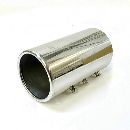 A B C G H J CC 3 4 5 6 7 Embellecedor de tubo de escape de acero inoxidable hasta 87 mm cromado universal Autohobby 0009