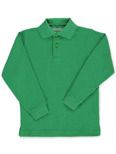 fa3dda6fa Amazon.com: Universal Children's Long Sleeve Pique Polo Shirt: School  Uniform Polo Shirts: Clothing
