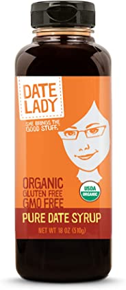 Date Lady Organic Date Syrup 18 Ounce Squeeze Bottle | Vegan, Paleo, Gluten-free & Kosher …