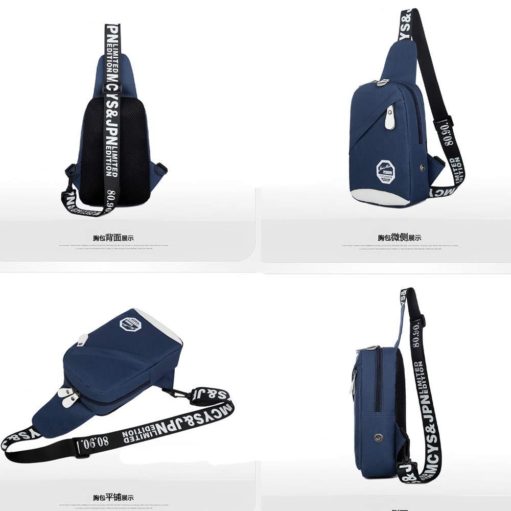 PrettyAll Men's Shoulder Bag Sling Backpack, Multipurpose Crossbody Shoulder Bag Travel Hiking Daypack (Blue, L17W8H26) by PrettyAll Bag (Image #6)