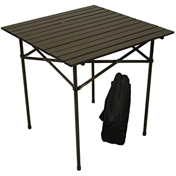 Table In A Bag TA2727 Tall Aluminum Portable Table With Carrying Bag, Brown