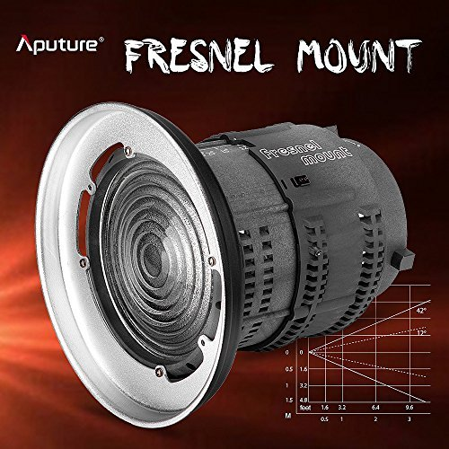 Aputure Fresnel Lens for Aputure Light Storm COB 120T 120D and other Bowen-S Mount Lights - 12 to 42° Beam Angle 14000lux@0.5M to 67000lux@0.5M Adjustable - Including Pergear Cleaning Kit by Aputure