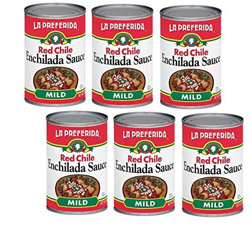 La Preferida Mexican Foods Red Chile Enchilada Sauce, Mild | Salsa de Chile Rojo para Enchiladas | 10 OZ (Pack of 6) (Canned Enchilada Sauce)