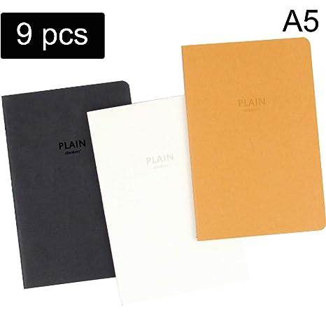 Amazon.com: Yollo - Cuaderno en blanco de 9 piezas, A5 ...