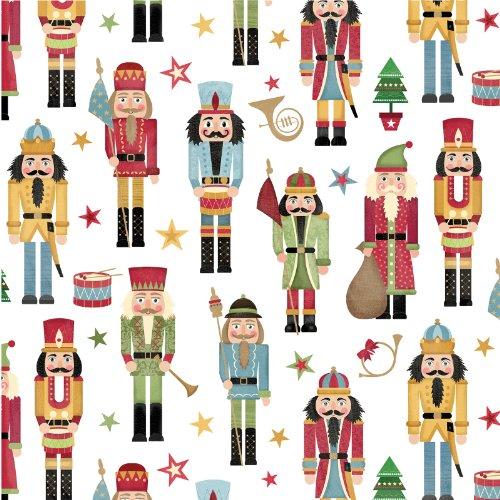 Jillson Roberts 12 Sheet-Count Flat Folded Christmas Gift Wr