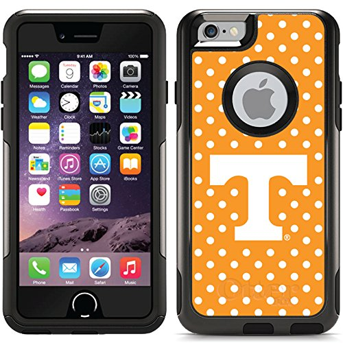 University Of Tennessee - Mini Polka Dots design on Black OtterBox Commuter Series Case for iPhone 6 and iPhone 6s (9083 Series)