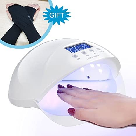 Plus Nail For Dryer Professional Quickly Lamp Curing Nails Motion Light Best Harden Anti Gloves Gift Led Kit50w Gel With Uv Polish pUzMjLVGqS